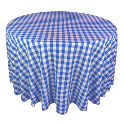 Royal Blue & White Picnic Check Linens
