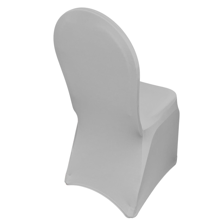 Platinum Spandex Chair Covers