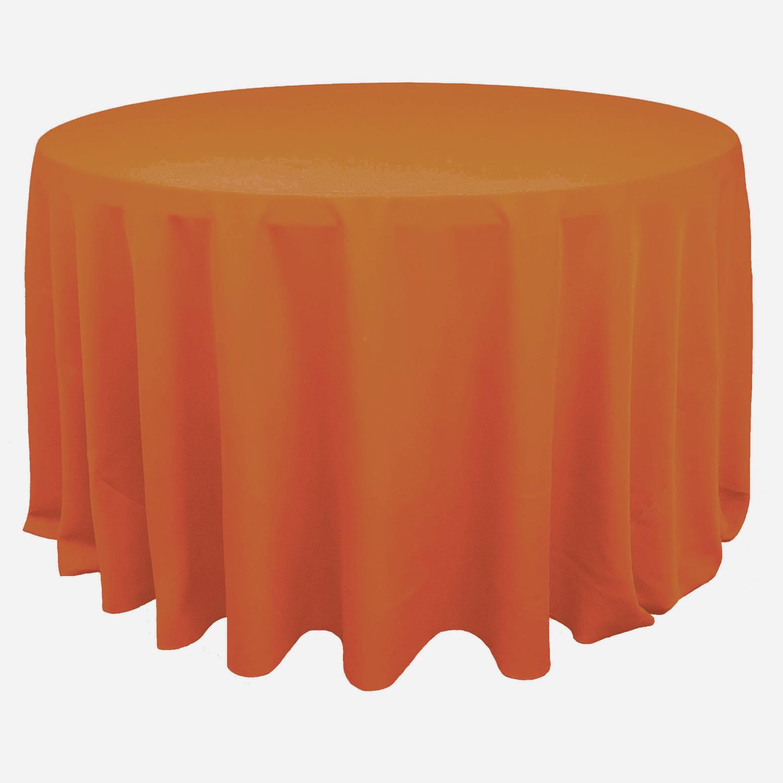 Orange Polyester Linens