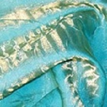 Turquoise Gold Crushed Iridescent Satin Linens