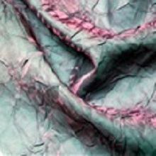 Pink Aqua Crushed Iridescent Satin Linens