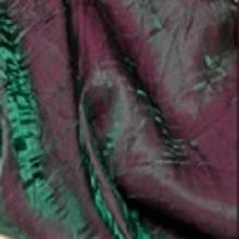 Plum Green Crushed Iridescent Satin Linens