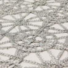 Silver Chain Lace Sequin Linens