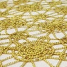 Gold Chain Lace Sequin Linens