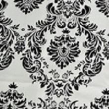 Black on White Henna/Damask Lamour Linens