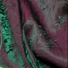 Plum Green Crushed Iridescent Satin Linens