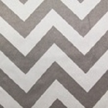 White and Silver Chevron Lamour Linens
