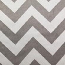 White and Silver Chevron Lamour Linens