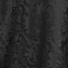 Black on Black Damask Linens