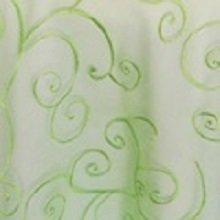 Apple Green Organza Swirl Linens