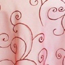 Apple Red Organza Swirl Linens