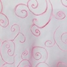 Bubble Gum Pink Organza Swirl Linens