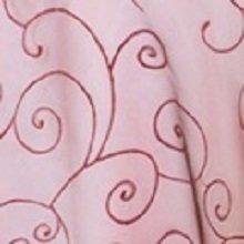 Burgundy Organza Swirl Linens