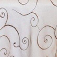 Chocolate Organza Swirl Linens