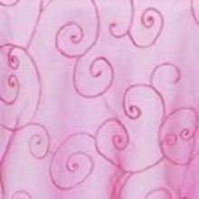Fuchsia Organza Swirl Linens