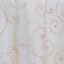 Gold Organza Swirl Linens