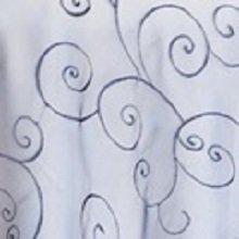 Navy Blue Organza Swirl Linens