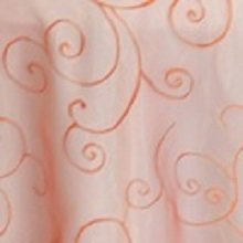 Orange Organza Swirl Linens