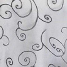 Pewter Organza Swirl Linens