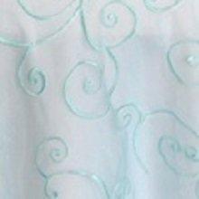 Pool Blue Organza Swirl Linens