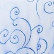 Royal Blue Organza Swirl Linens