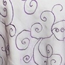 Royal Purple Organza Swirl Linens