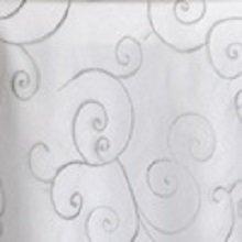 Silver Organza Swirl Linens