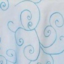 Turquoise Organza Swirl Linens