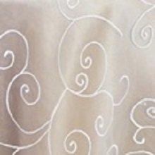 White Organza Swirl Linens
