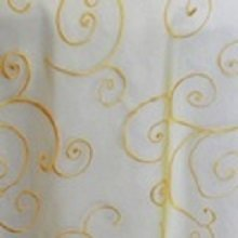 Canary Yellow Organza Swirl Linens