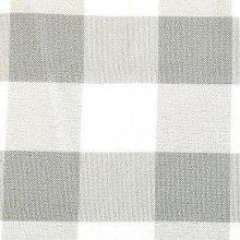 Silver & White Picnic Check Linens
