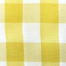 Yellow & White Picnic Check Linens