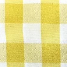 Yellow & White Picnic Check Linens
