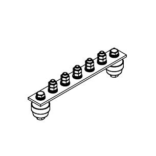 Главная заземляющая шина ГЗШ.02-430.210.5М8-М
