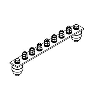 Главная заземляющая шина ГЗШ.02-430.270.7М8-М