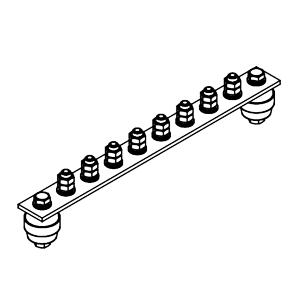 Главная заземляющая шина ГЗШ.02-430.300.8М8-М
