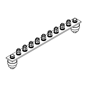 Главная заземляющая шина ГЗШ.02-430.330.9М8-М