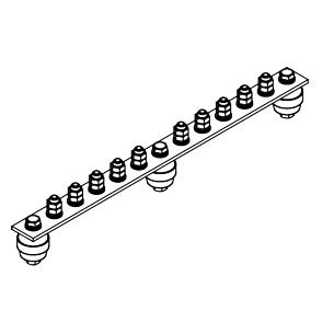 Главная заземляющая шина ГЗШ.02-430.390.10М8-М