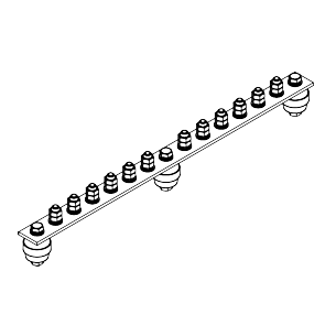 Главная заземляющая шина ГЗШ.02-430.450.12М8-М
