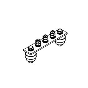 Главная заземляющая шина ГЗШ.02-430.150.3М8-ГЦ