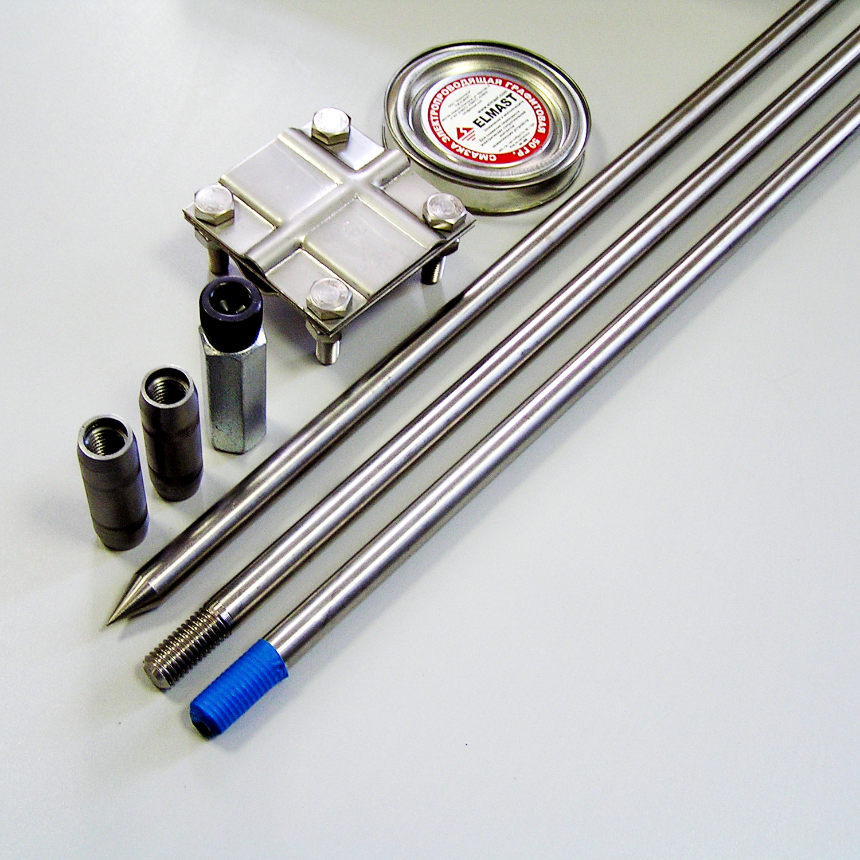 Комплект заземления из нержавеющей стали КЗН-15.1-01 (18) 15 метров