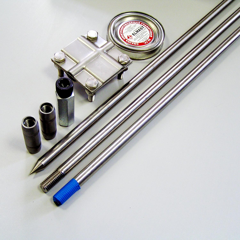 Комплект заземления из нержавеющей стали КЗН-6.2-01 (20), 6 метров (2х3)