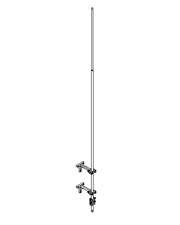 Молниеприемник стержневой сборный МСС-3.1К-2500-0,4ГЦ