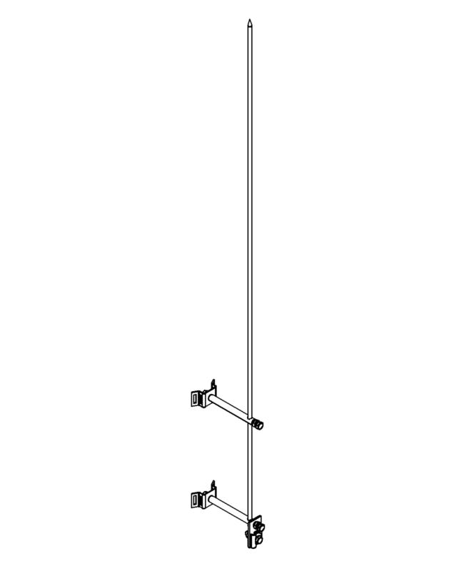 Молниеприемник стержневой сборный МСС-3.8КЛ-1500-0,3Н
