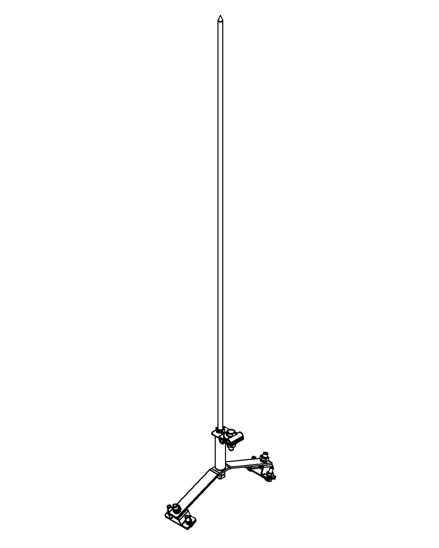 Молниеприемник стержневой сборный МСС-3.4КД-800-95ГЦ