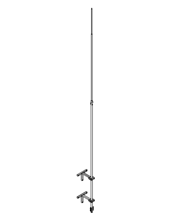 Молниеприемник стержневой сборный МСС-3.2К-4500-0,3ГЦ