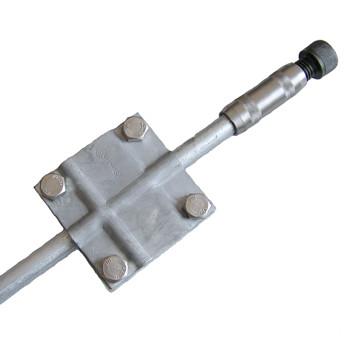 Комплект заземления из горячеоцинкованной стали КЗЦ-7.2.18.102, 2x7,5 метров