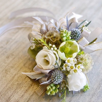 Set of Rustic boutonniere + Corsage