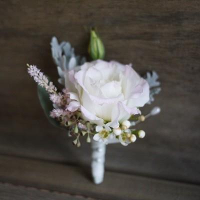 Set of Soft petals Boutonniere + Corsage