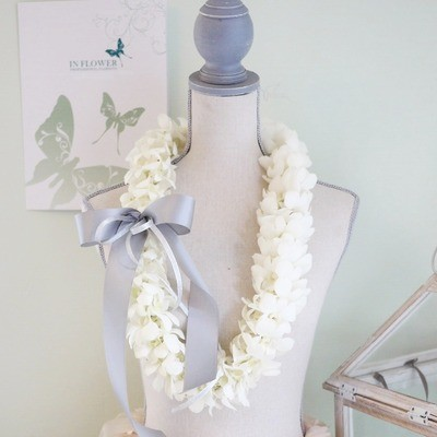 White double Lei - pre order only
